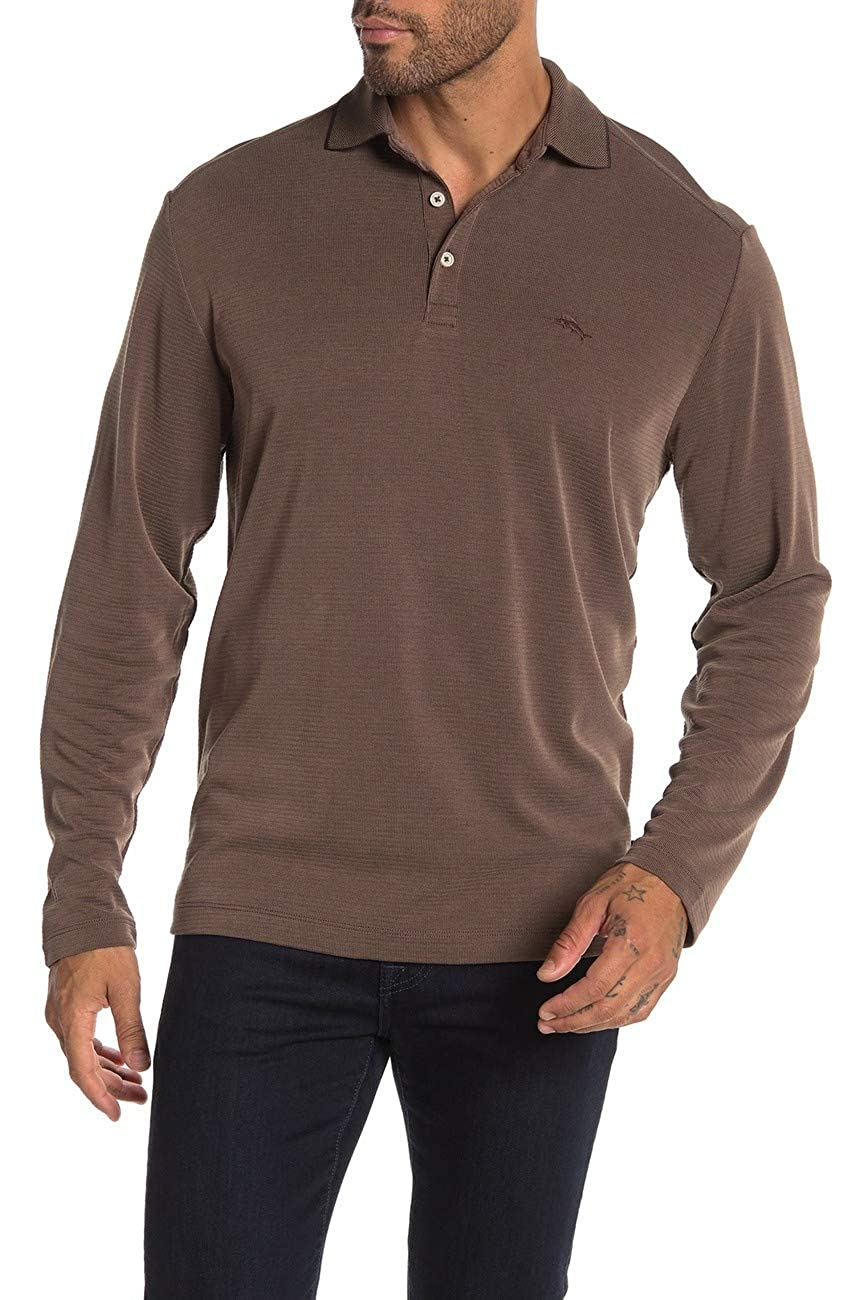 Tommy Bahama Mens Sweater Polo Ribbed Long Sleeve Brown XL: Amazon ...