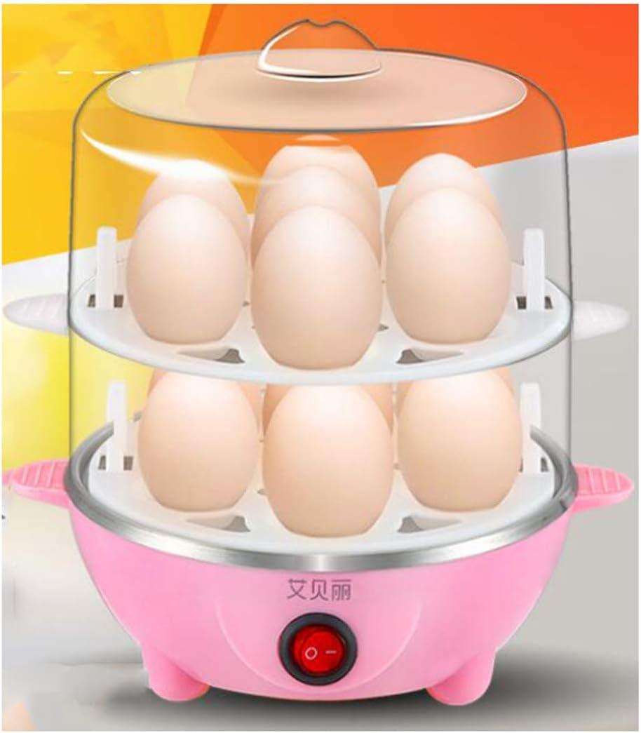 Cocina Y Temporizador Eléctricos Para Calderas De Huevos Con Accesorio De Vaporizador Para Huevos Duros Y Duros Perfectos |,Pink