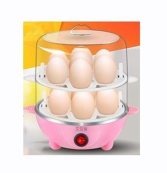 Cocina Y Temporizador Eléctricos Para Calderas De Huevos Con Accesorio De Vaporizador Para Huevos Duros Y Duros Perfectos |,Pink: Amazon.es: Hogar