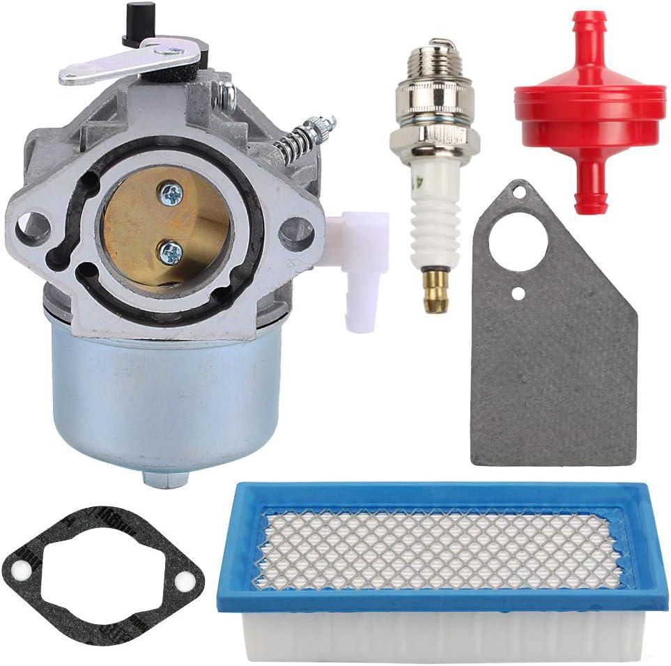 Venseri 690119 694526 Carburetor with Air Filter + Fuel Filter Spark Plug for Briggs & Stratton 690115 690111 Tractor Generator Engine Lawnmower