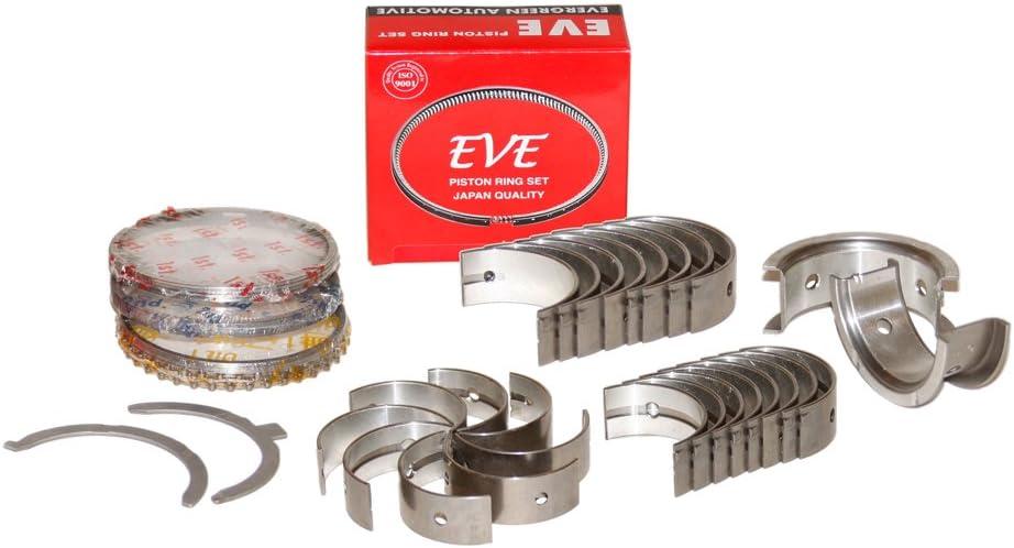 Evergreen RSBR4026//0//0//0 Fits Honda D16A1 D16A6 D16Z6 Ring Set w//Main /& Rod Bearings