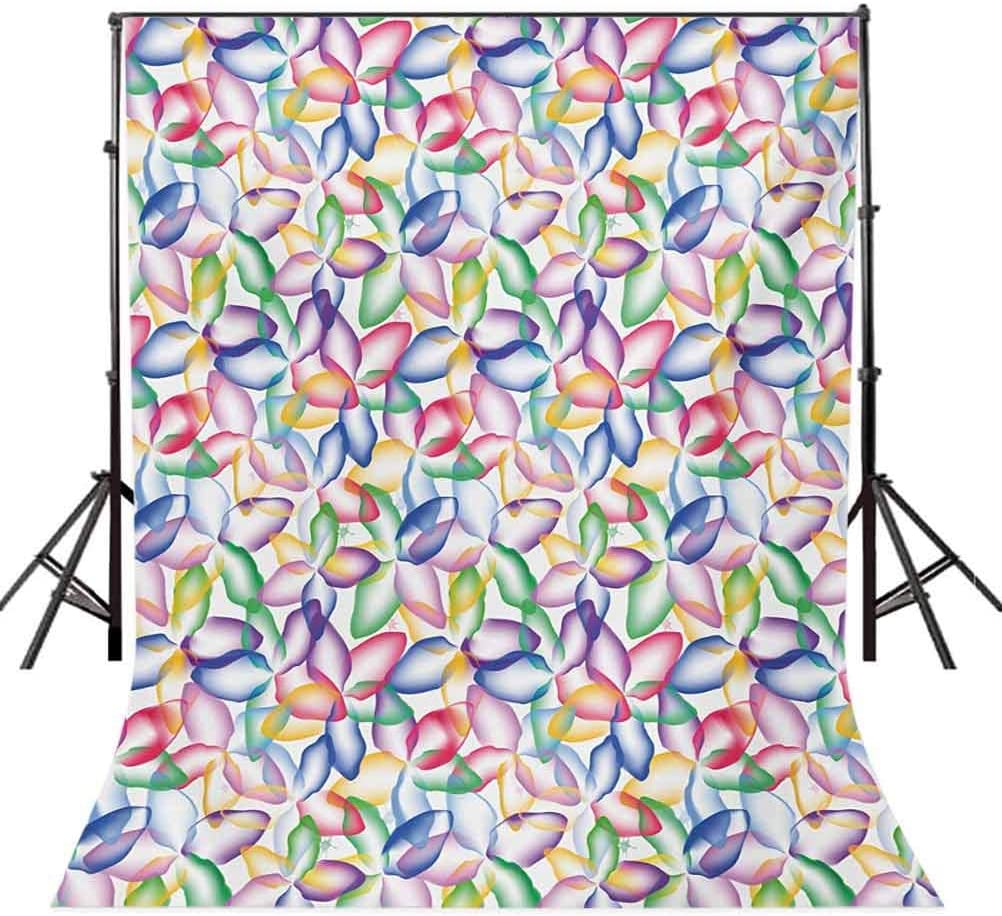 Floral 10x12 FT Backdrop Photographers,Colorful Flower Petals Vibrant Watercolors Artistic Abstract Hand Drawn Spring Theme Background for Baby Shower Bridal Wedding Studio Photography Pictures
