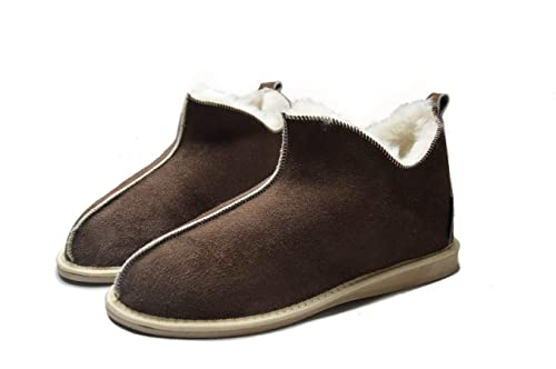 fd3c5214304 Yeti & Sons Hand Crafted Luxury Women's 100% Sheepskin Lined Ankle Hardsole  Boot Slippers