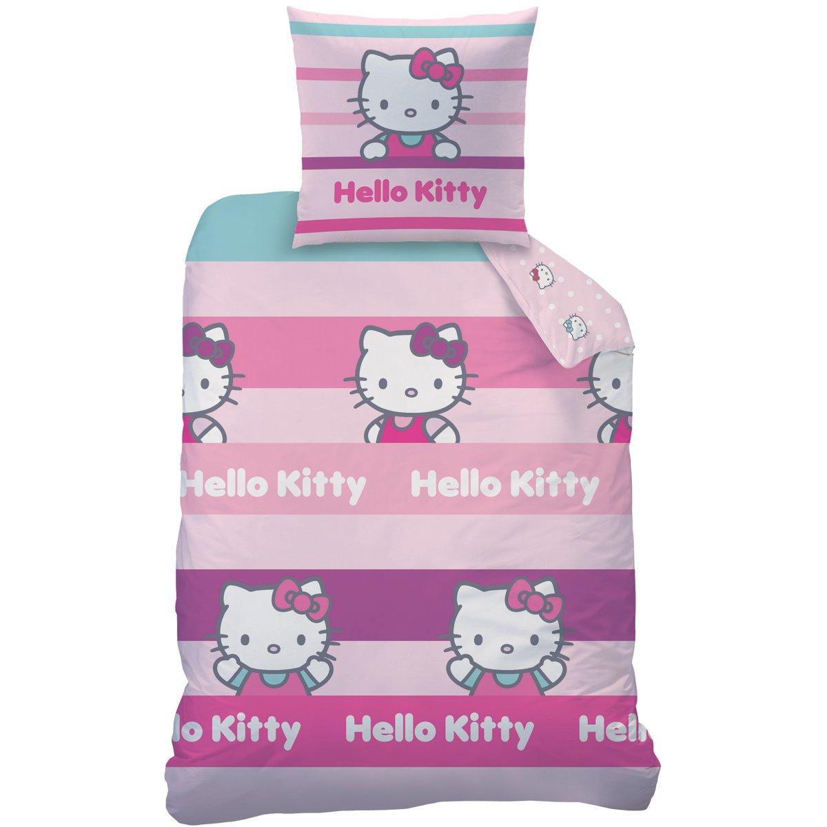 CTI 042830 Hello Kitty - Juego de Cama con Funda nórdica de 140 x 200 cm y 1 Funda de Almohada DE 63 x 63 cm, algodón y poliéster, 2 Unidades, Color ...