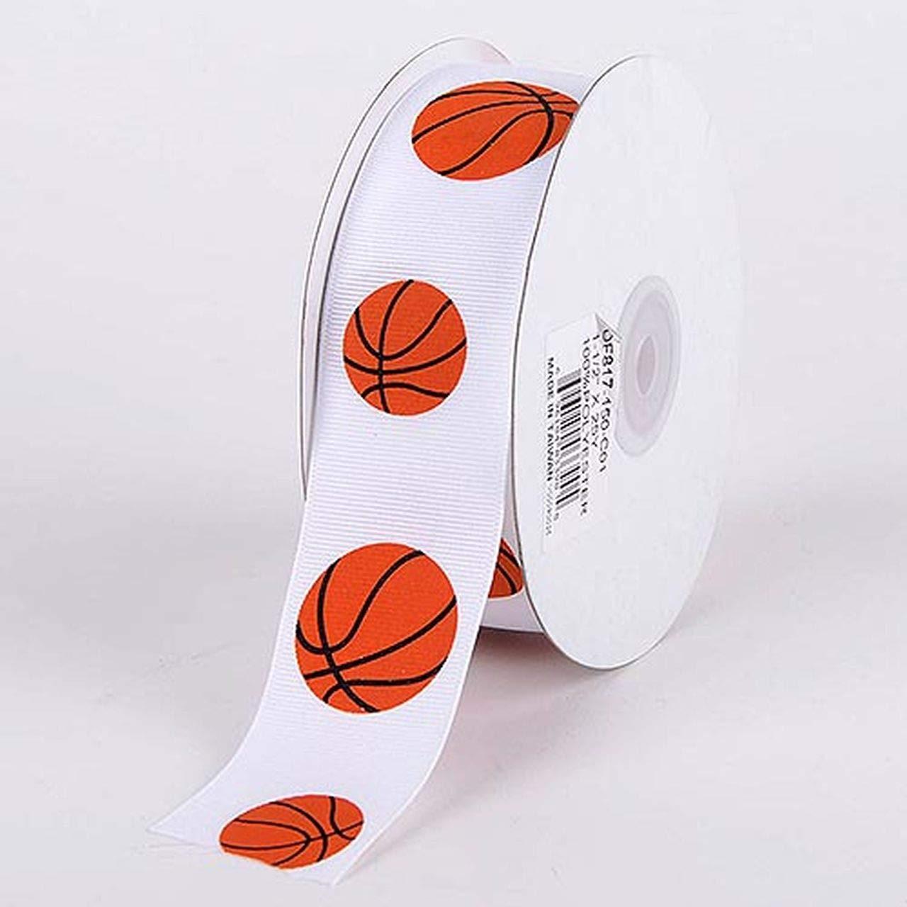 "3 Yds Sports Soccer Football Baseball Basketball Scrapbook Grosgrain Ribbon 5//8/"""