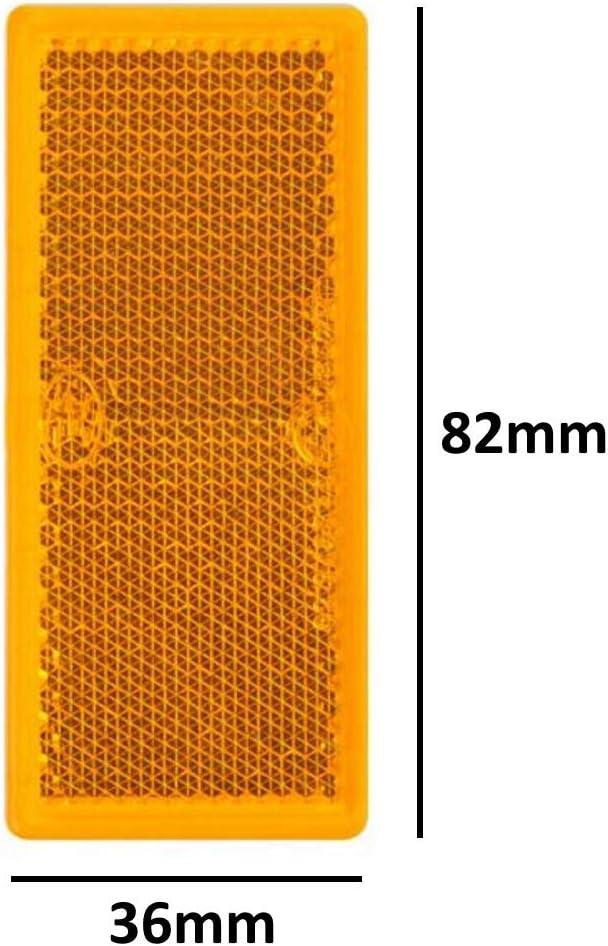 4 catadiottri arancioni rettangolari per rimorchio auto per camion roulotte