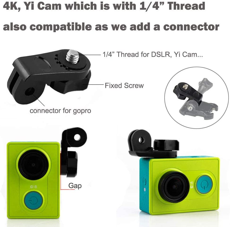 SJ CAM e altre camme dazione Yi cam 4//3 ShipeeKin Supporto per casco Casco moto mento di montaggio Staffa di montaggio in testa compatibile con GoPro Hero 7//6//5//4