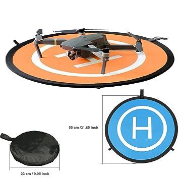 KINGWON 55cm Plegable Drone Landing Pad Pista de Aterrizaje ...