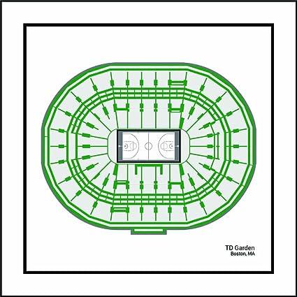 Amazon.com: Boston Celtics TD Garden Arena Print Art Gift: Posters ...