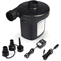 Ewandow Air Pump for Inflatables 110V AC/12V DC Electric Portable Pump Air Mattress Raft Bed Boat Pool Toy