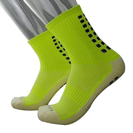 Calcetines de fútbol antideslizantes ZHOUBA, verde, talla única