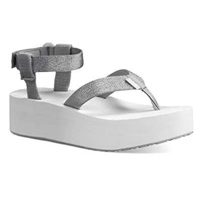 0469a59a2c443b Teva Women s Flatform Sandal Silver 11 B - Medium  Amazon.ca  Shoes ...