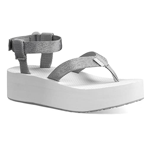 925c27d5a74 Teva Women s Flatform Sandal Silver 11 B - Medium  Amazon.ca  Shoes ...