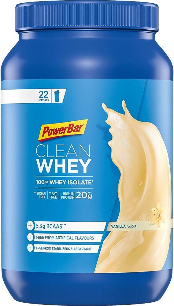PowerBar Clean Whey 100% Isolate Vanilla 570g - Polvo de Alta Proteína - Suero Aislado