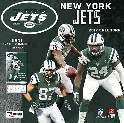"Turner Licensing Sport 2017 New York Jets Team Wall Calendar, 12""X12"" (17998011920)"