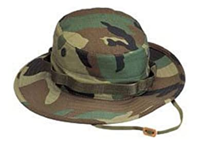 984612a5b2c13 Rothco 5800 Woodland Camo Boonie Hat (7 1 4)  Amazon.co.uk  Clothing