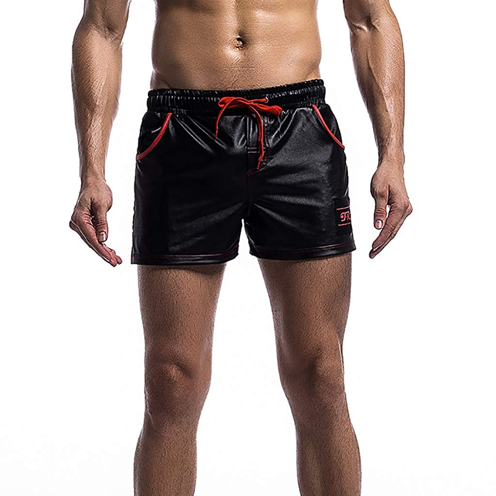 Aanny Mens Summer Quick-Drying Breathable Fit Pocket Sports Training Bodybuilding Shorts Mens Fitness Pants