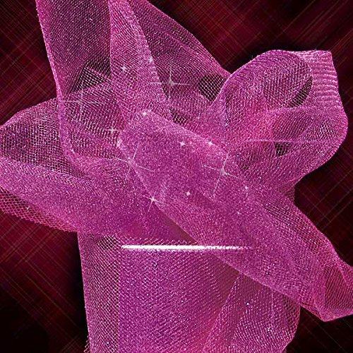 5 Rolls Premium Sparkling Glitter Tulle Rolls - 6