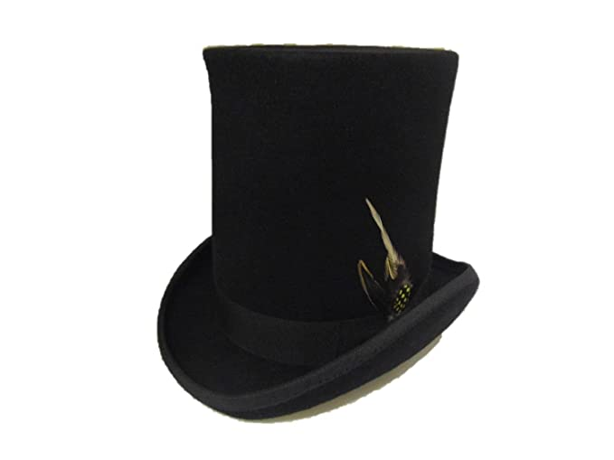 Victorian Men's Hats- Top Hats, Bowler, Gambler Stove Pipe Lincoln Victorian Style Top Hat  AT vintagedancer.com