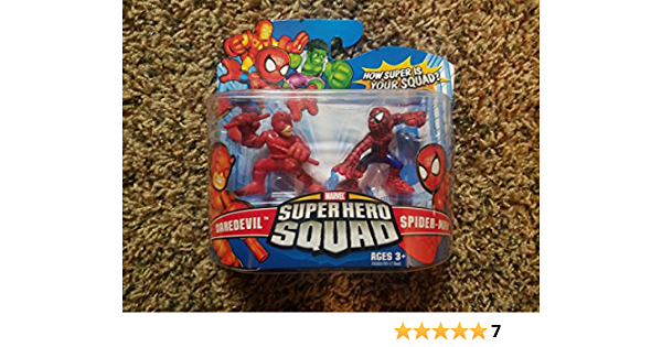 Marvel Superhero Squad Daredevil /& Spider-Man action figure