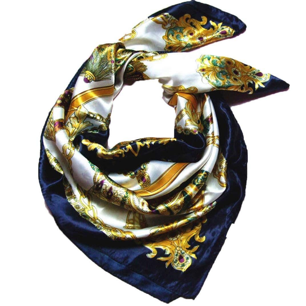 Ogquaton Foulards carr/és de qualit/é sup/érieure en Soie Imitation carr/ée /écharpe Bandana 90x90cm