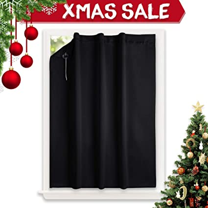 best insulating blinds nicetown blackout curtain temporary blinds versatile anywhere portable lightweight drape with suction cups for door amazoncom