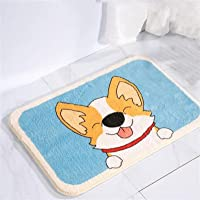 JUNMIN Imitation Cashmere Cartoon Floor Mat The Absorbent Non-Slip Mat in Front of The Toilet and The Plush Mat Behind…