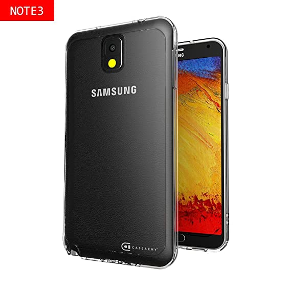 save off a62e7 f13bd Case Army Galaxy Note 3 | Note III Clear Cover Case [CLOG]  Scratch-Resistant Clear Case for Samsung Galaxy Note 3 | III | N9000 Hard  Back Soft Sides ...