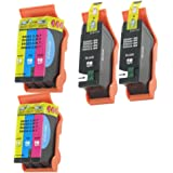 4 Pack Compatible Ink for Dell Series 21 22 23 24 All-In-One Printers P513w P713w V313 V313w V515w V715w