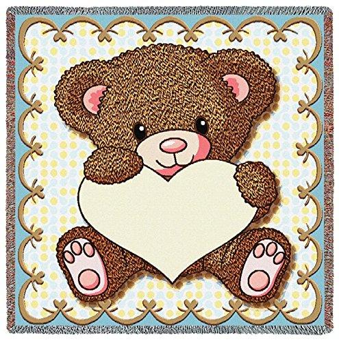 Pure Country Inc. My Little Teddy Bear Small Blanket - Woven Teddy Bear Blanket Throw