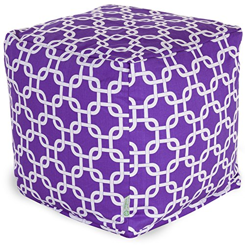 Footstool Bag Bean (Majestic Home Goods Links Indoor/Outdoor Bean Bag Ottoman Pouf Cube, 17