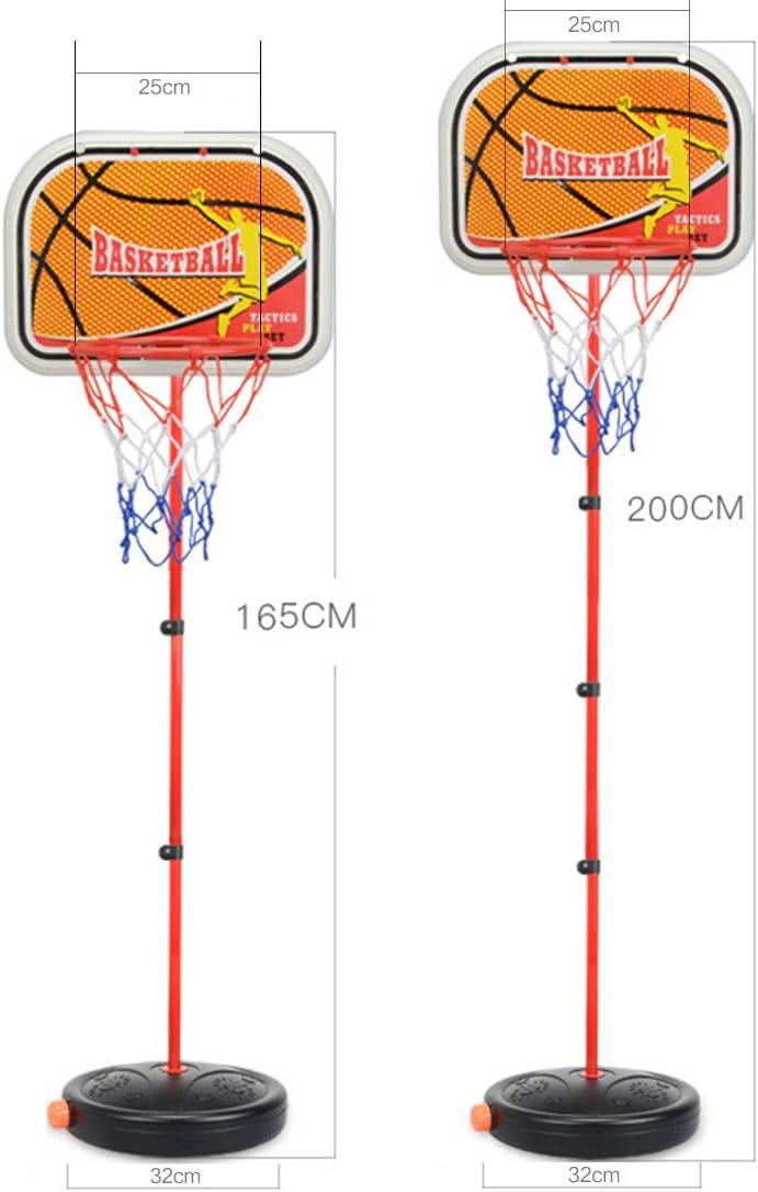 ALLESOK 165cm Panier de Basket sur Pied Hauteur R/églable Panier de Basket avec Ballon /& Pompe pour Enfants