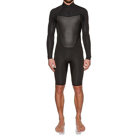 Billabong 2mm 2018 Absolute Long Sleeve Back Zip Shorty Wetsuit Small Black b833d1554