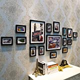 Home@Wall photo frame Home Wood Photo Frame Sets Of 16, Living Room Bedroom Sofa Background Hanging Paintings Aisle Corridor Photo Frame Combination ( Color : C , Size : 16frames/20085CM )