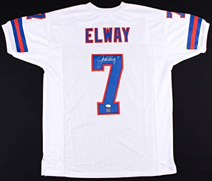 buy popular e0d1f 124d9 John Elway Autographed White Denver Broncos Jersey - Hand ...