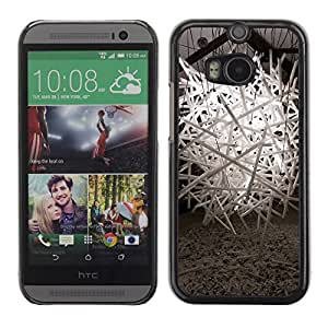 PC/Aluminum Funda Carcasa protectora para HTC One M8 new life coming / JUSTGO PHONE PROTECTOR