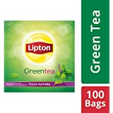 Lipton Tulsi Natura Green Tea Bags, 100 Pieces