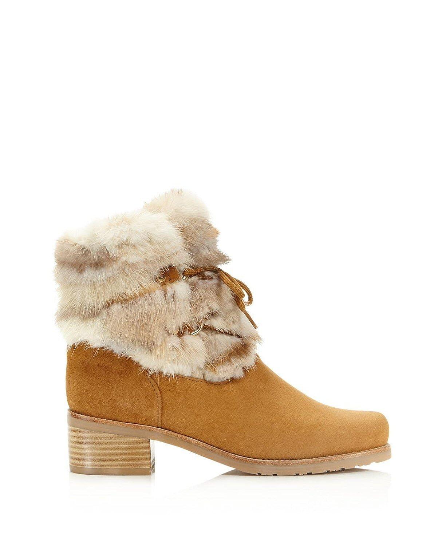 a7a07ec5002 Stuart Weitzman Furnace Suede Fur Cuff Lace Up Boots Shoes  Amazon.co.uk   Shoes   Bags