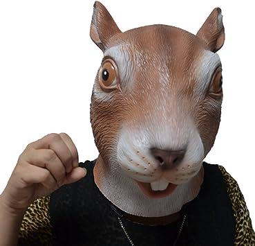 Jitong Halloween Animal Látex Cabeza Máscara Novedad Disfraces ...