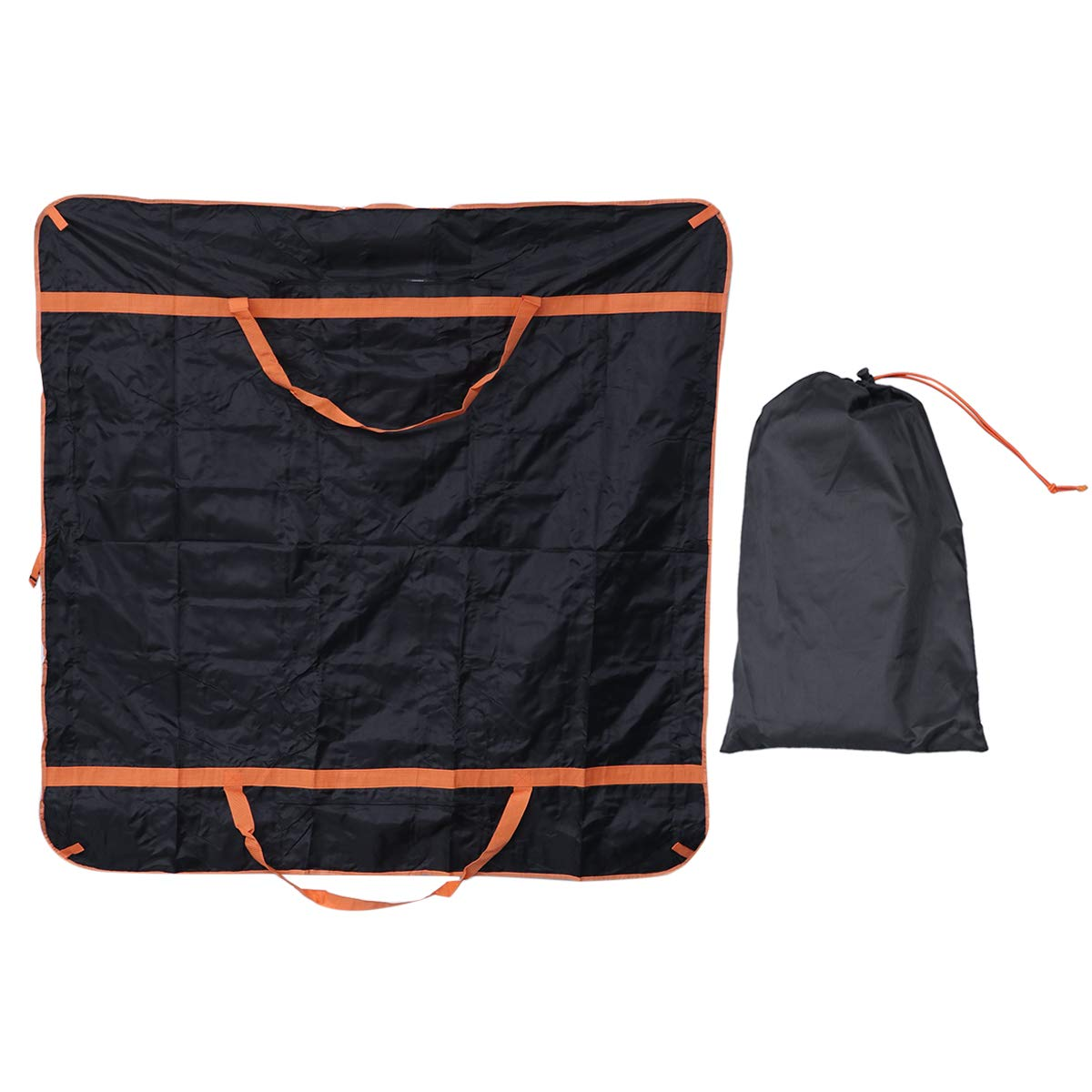 Vosarea Waterproof Tent Storage Bag Dampproof Mat Foldable Multifunction for Camping Outdoor(Black)