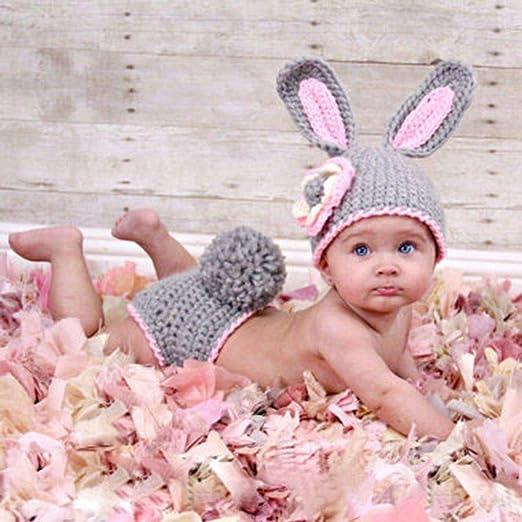 Rekkles Ropa fotográfica Ropa de bebé Lindo del Conejo de ...