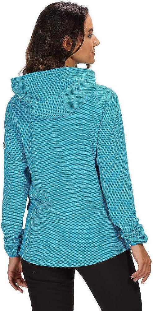 Regatta Womens Montem Iv Overhead Honeycomb Stretch Hoodie Fleece