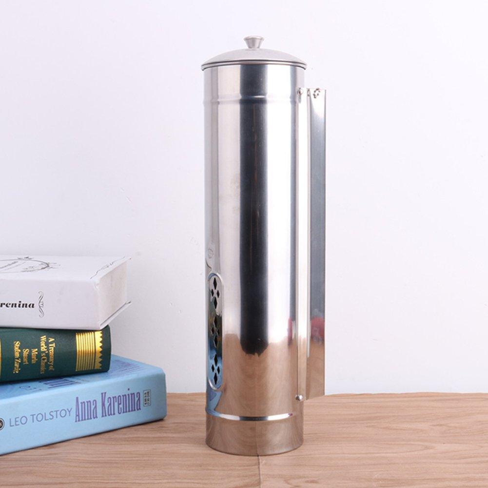 Tassenspender,Edelstahl-Pull-Getr/änkebecher-Spender automatischer Wand-Einweg-Pappbecher Halter mit abnehmbarer Kappe Silver