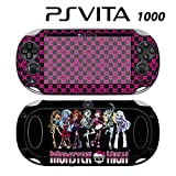 Decorative Video Game Skin Decal Cover Sticker for Sony PlayStation PS Vita (PCH-1000) - Monster High Ghoul Hot Pink Skull