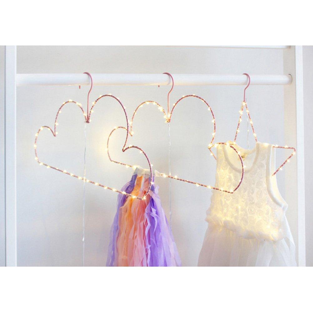 rose LEDMOMO Lampe Decorative Led a pile en forme de Cintre de Nuage Lampe dambiance Veilleuse Cintre de V/êtement D/écoratif avec lumini/ère led pour Chambre enfant