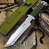NEW 11'' Silver Survival Tanto ProTactical'US - Limited Edition - Elite Knife with Sharp Blade w/ Fire Starter