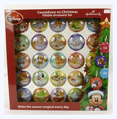 Disney Hallmark Coundown-to-Christmas Fillable Ornament Set