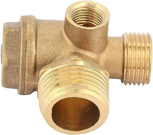 SODIAL R 3//8 femmina filettatura tubo connettore del compressore daria Valvola tono oro