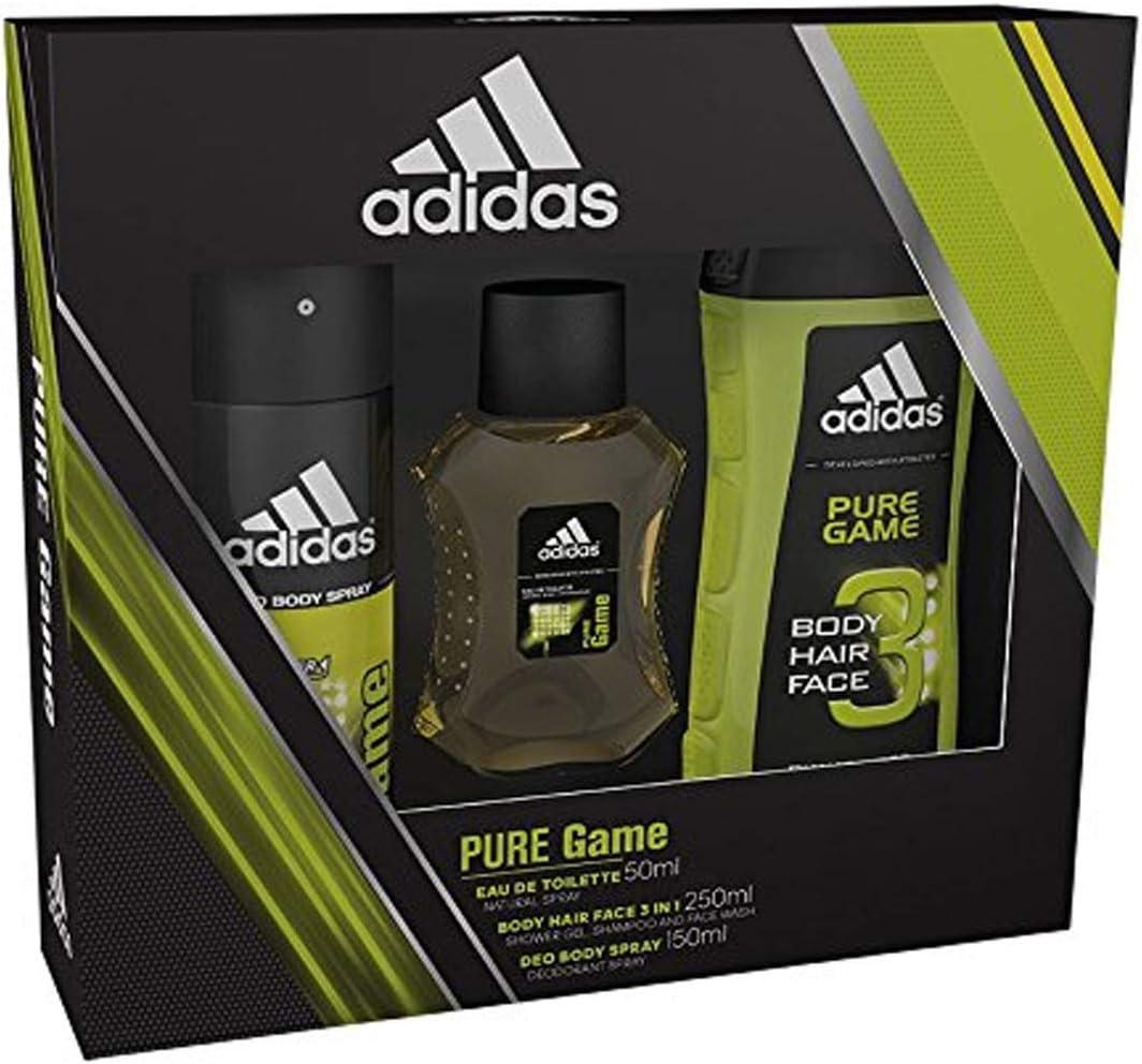 adidas Pure Game desodorante, gel de ducha y eau de toilette, estuche para regalo: Amazon.es: Belleza