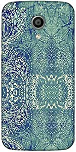 Snoogg Paisley Formation Designer Protective Back Case Cover For Moto G 2Nd G...